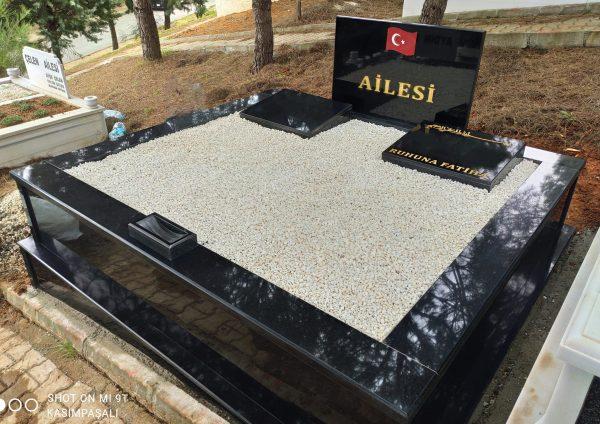Siyah-iki-kişilik-Granit-Mezar